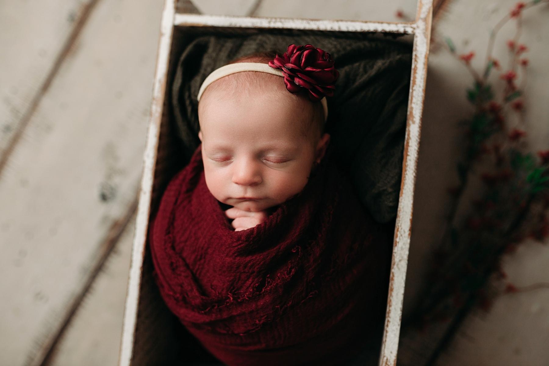 Christmas newborn photo session Indianapolis Photography Studio