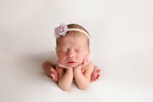 Newborn Studio Photos Carmel Indiana Froggy