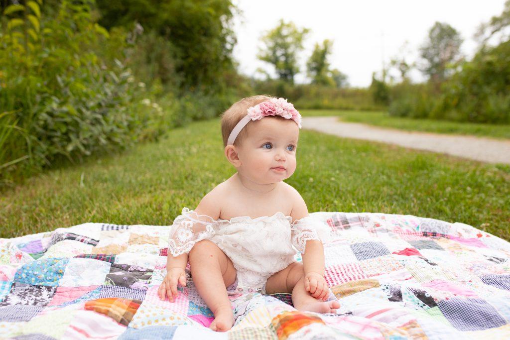 Baby Milestone Photographer Carmel Indiana