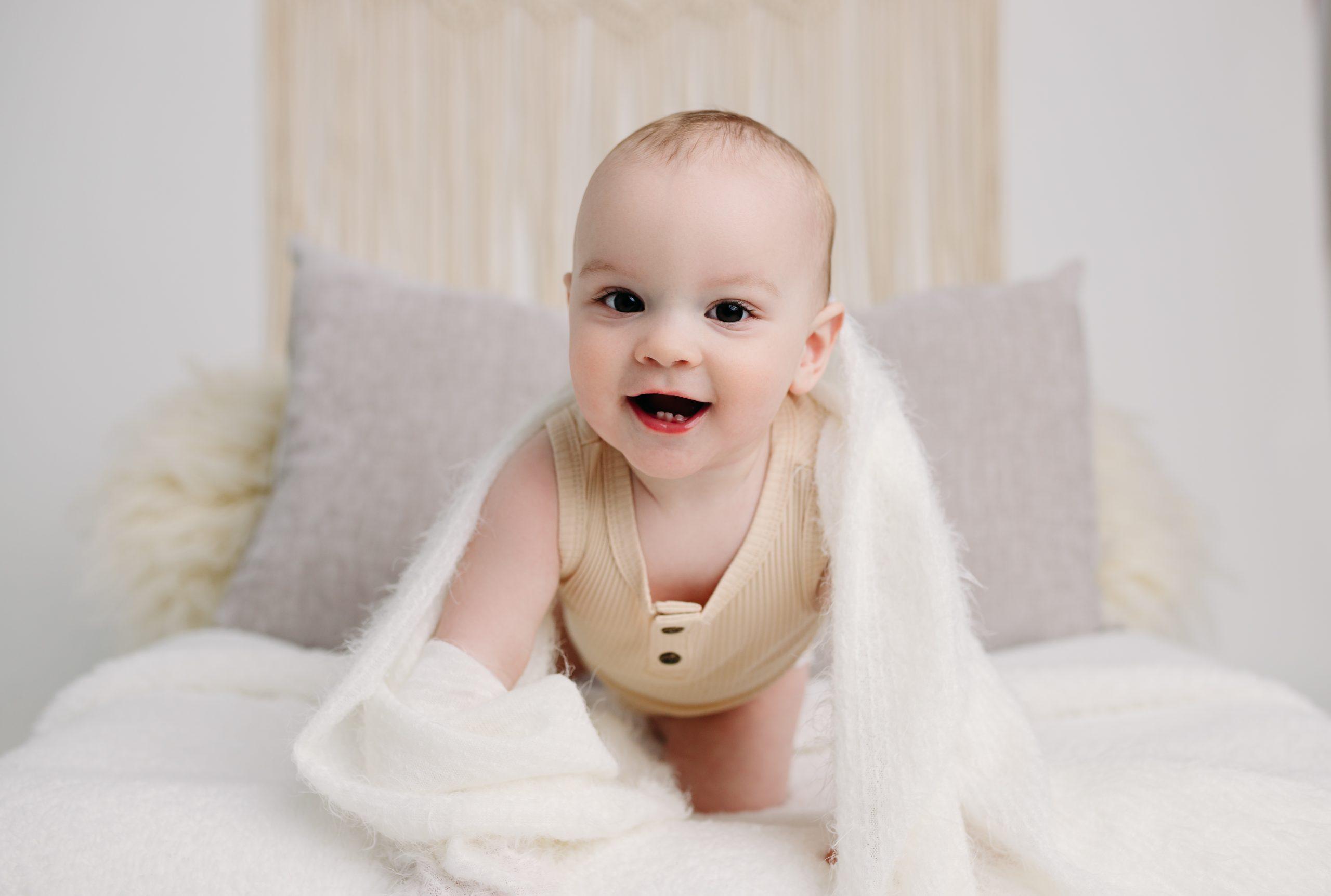 Zionsville Indiana Baby Infant Photo Session Studio Milestone