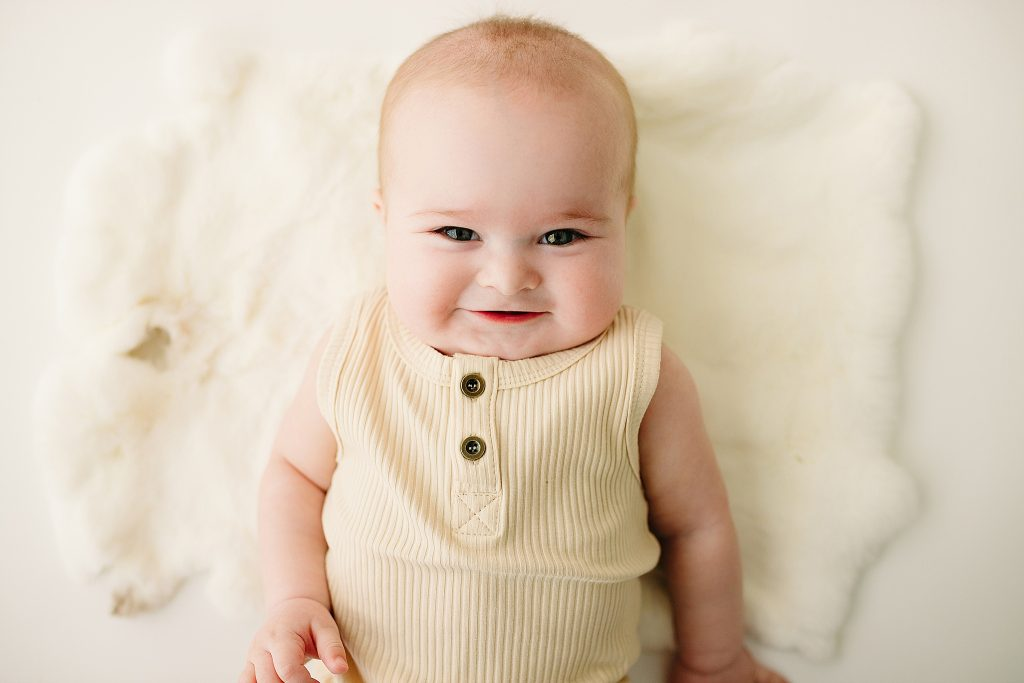Carmel Indiana Affordable Baby Milestone Photographer