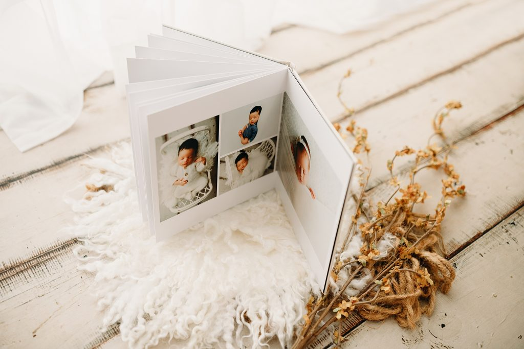 Newborn Photo Book Indianapolis Photo Studio