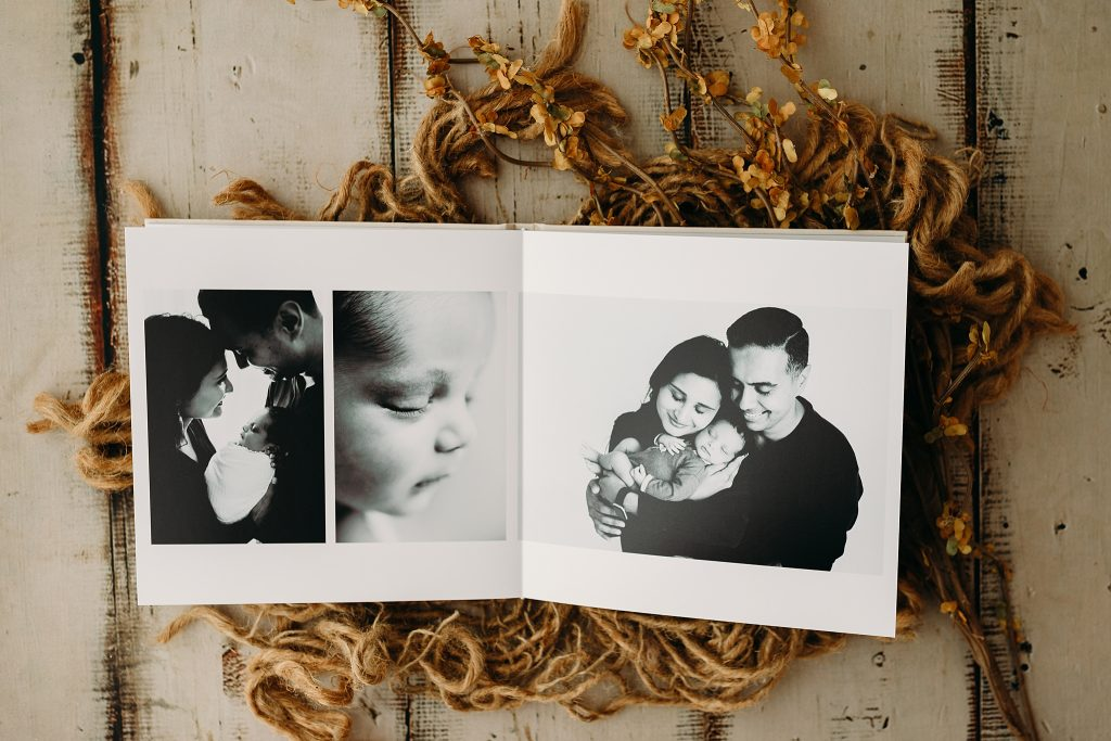 Newborn Photo Album at Holly Marie Photography