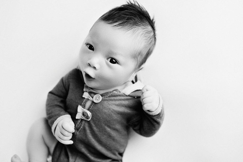 newborn boy black and white Indianapolis photo session